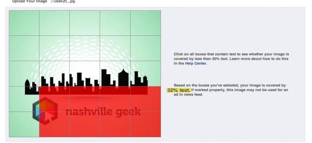 Facebook 20% Ad Rule photo