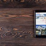 castle homes website on ipad