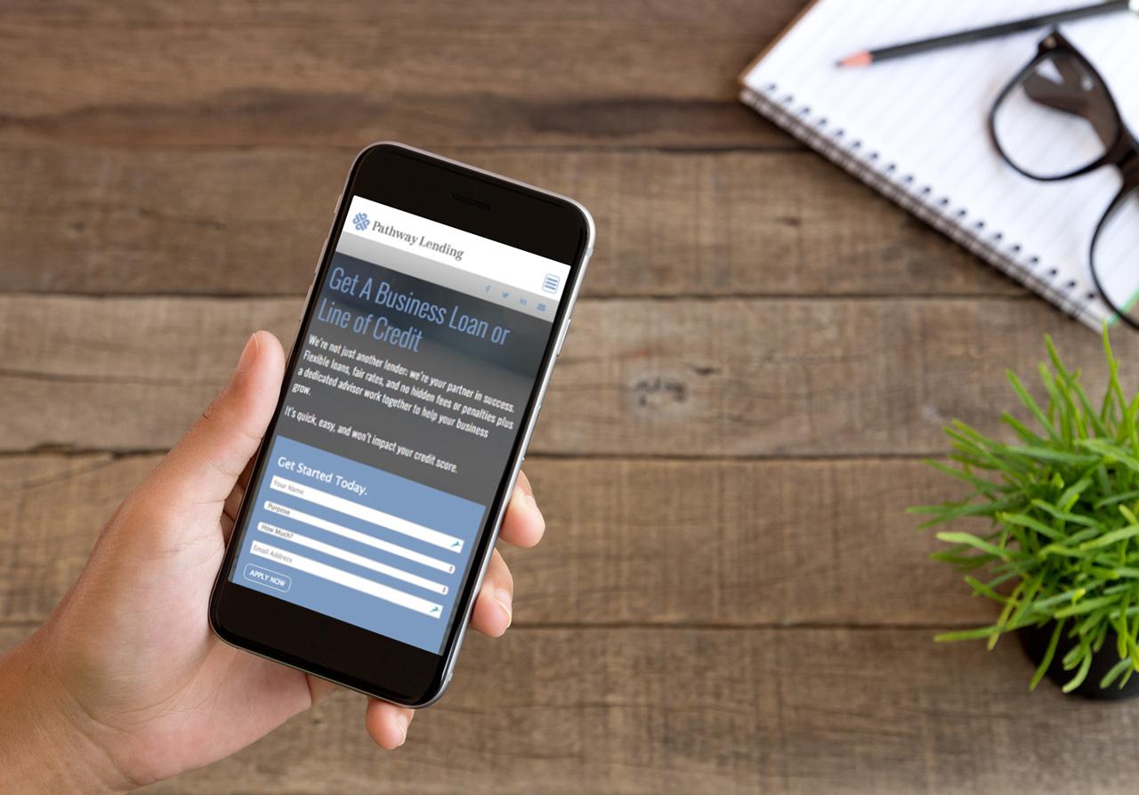 pathwaylending mobile website