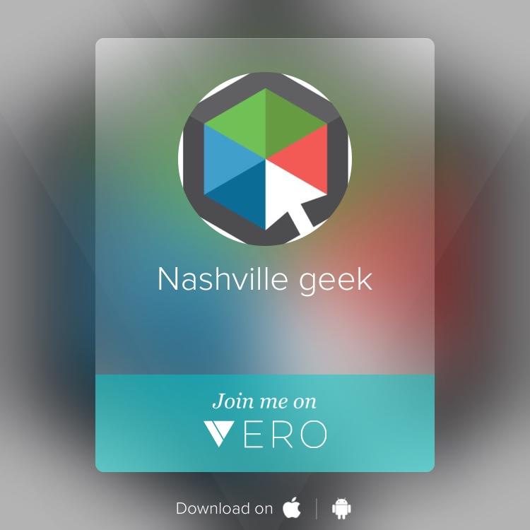 Nashville Geek's Vero Social Card